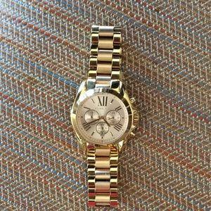 Michael Kors Gold /Rose Gold Chronograph Watch